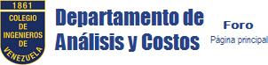 Foro DAC - Dpto. de Análisis y Costos - Página Principal